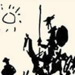 Don Quijote de Picasso mezzo busto