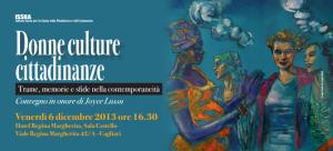 Donne culture cittadinanza convegno in onore Joice Lussu 6 dic 13