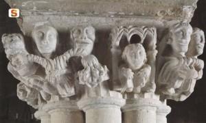 San Pantaleo di Dolianova- particolare di un capitello