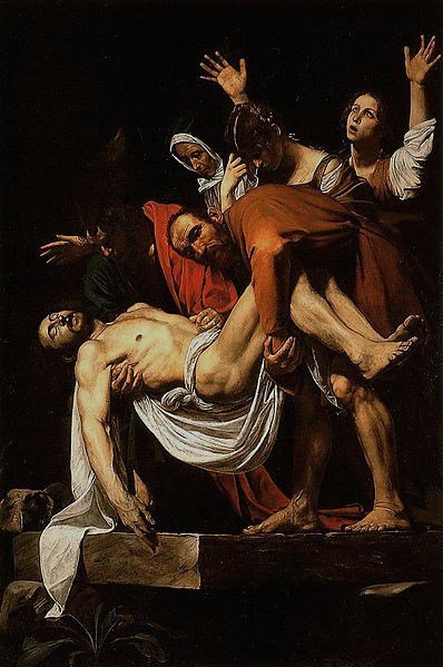 Caravaggio La Deposizione di Cristo