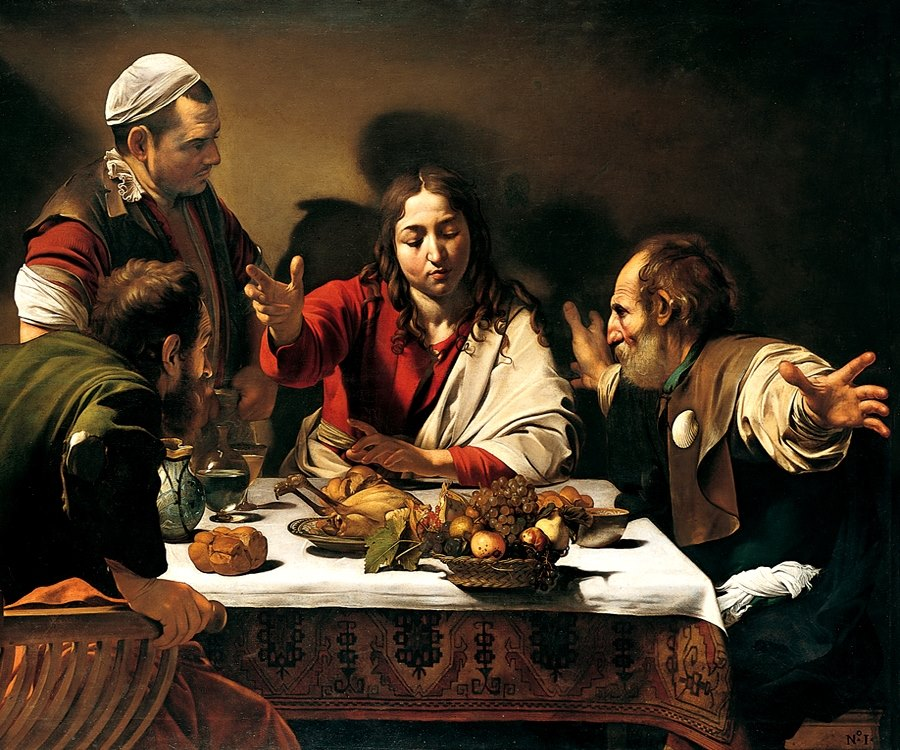 Caravaggio 1573-1610 La cena in Emmaus