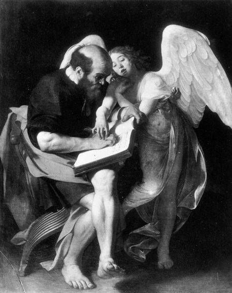 Caravaggio (1573-1610) San Matteo e l' Angelo