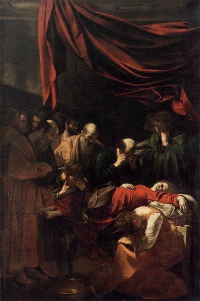 Caravaggio Morte della Vergine