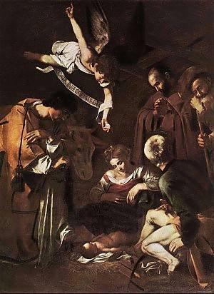 Caravaggio Natività con i SS Lorenzo e Francesco