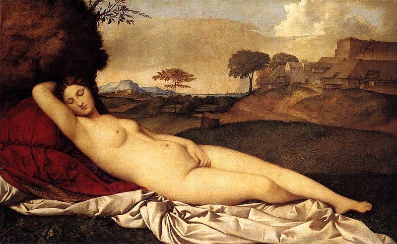 「Giorgione  Venere dormiente」の画像検索結果