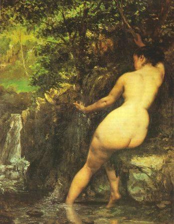 Gustave Courbet (1868) La Sorgente.