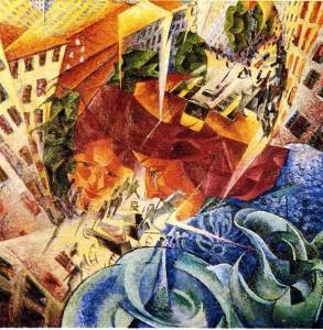 Boccioni visioni simultanee 1911