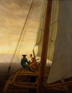 Caspar David Friedrich - On a Sailing Ship (1820)