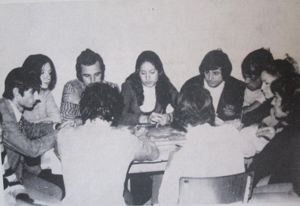 lezione alla scuola popolare 1971