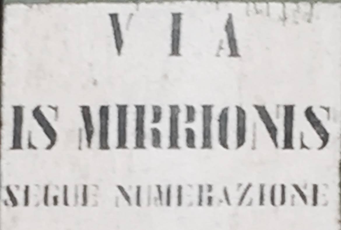 via Is Mirrionis segue numerazione