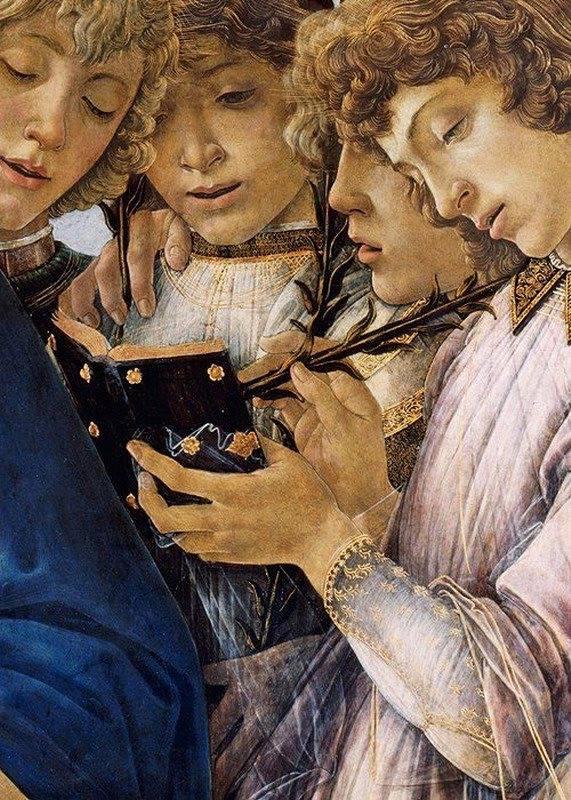Botticelli dettaglio angeli LL