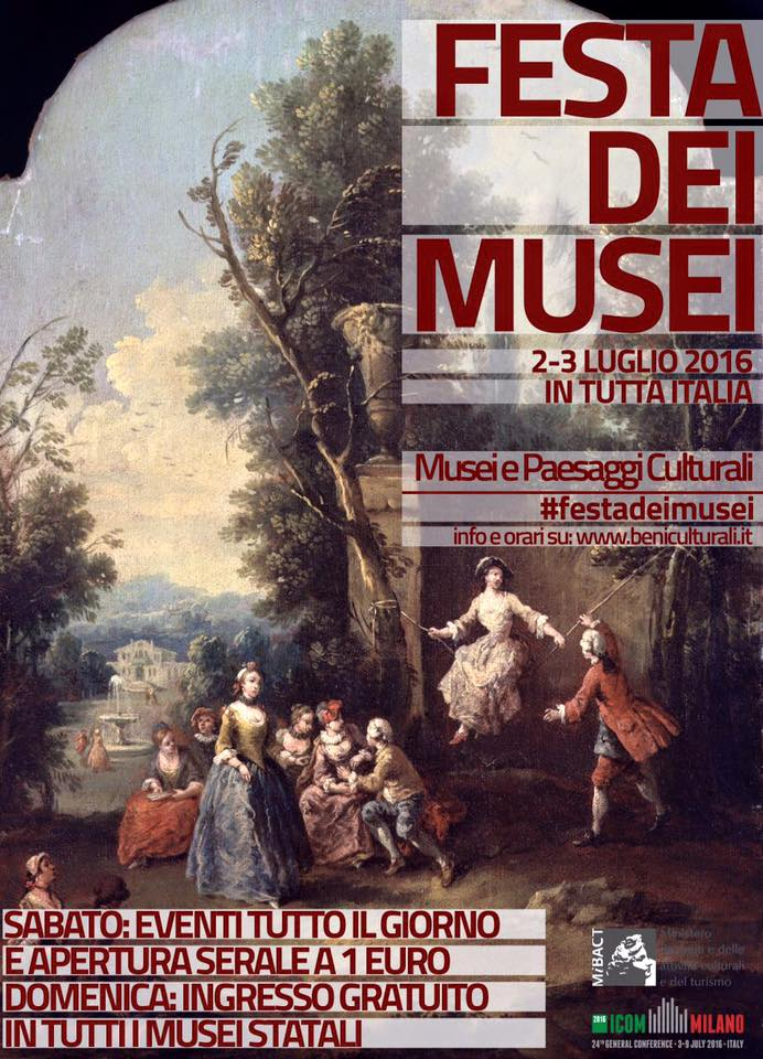 Musei sabato e domenica 2 3 luglio 16