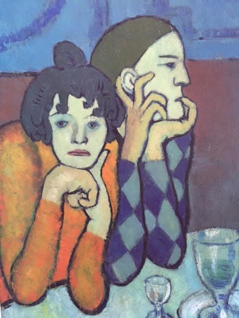 Picasso Arlecchino e compagna