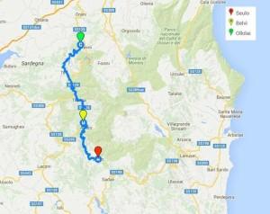 cammino Ospitone map