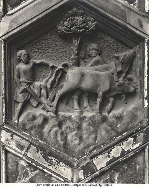 Formella Agricoltura Pisano Campanile Giotto