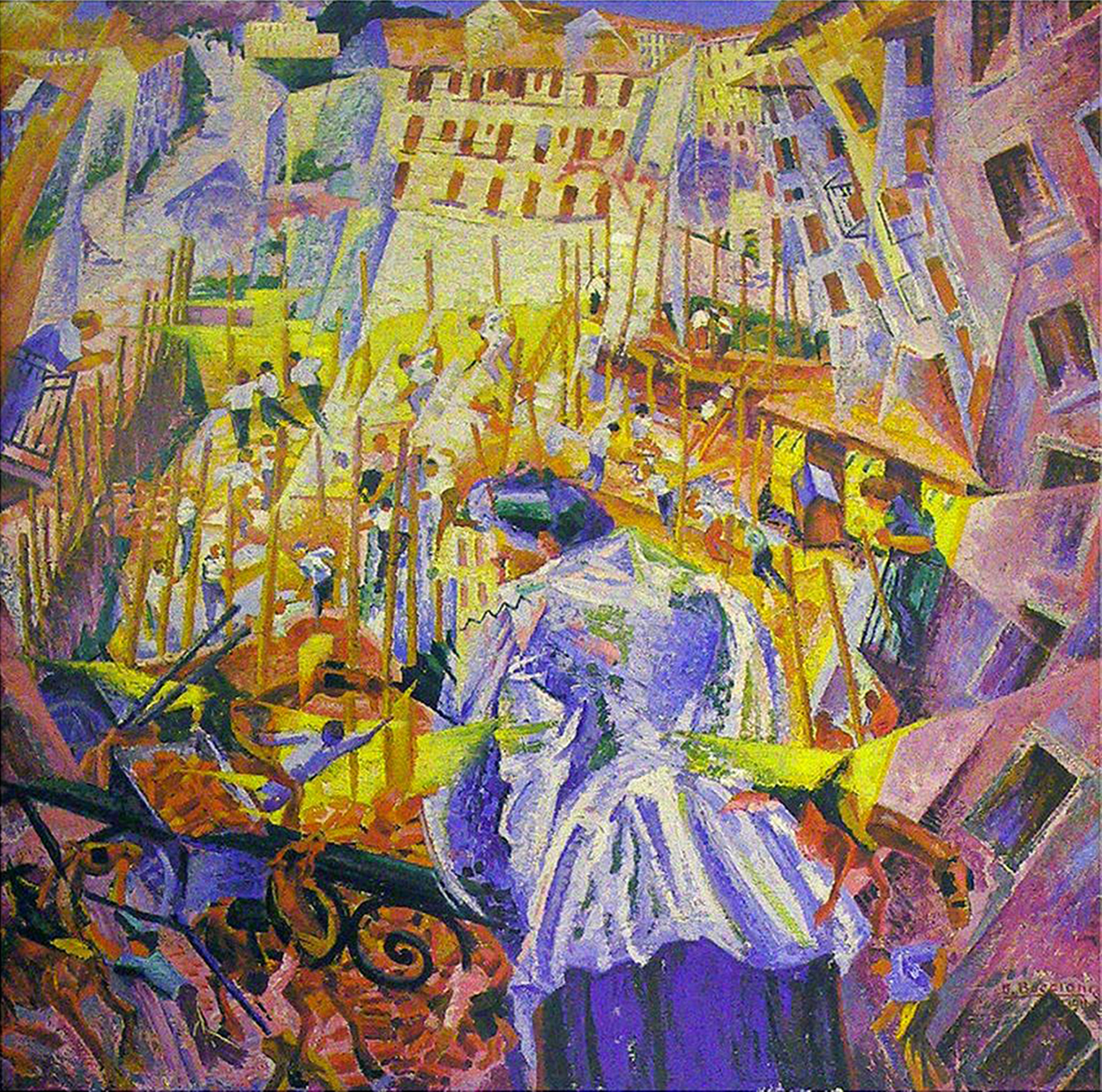 umberto_boccioni_1911_the_street_enters_the_house_oil_on_canvas_100_x_100-6_cm_sprengel_museum